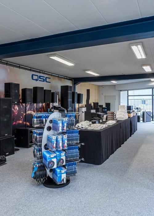 Kom al onze audio producten bekijken en luisteren in onze showroom.